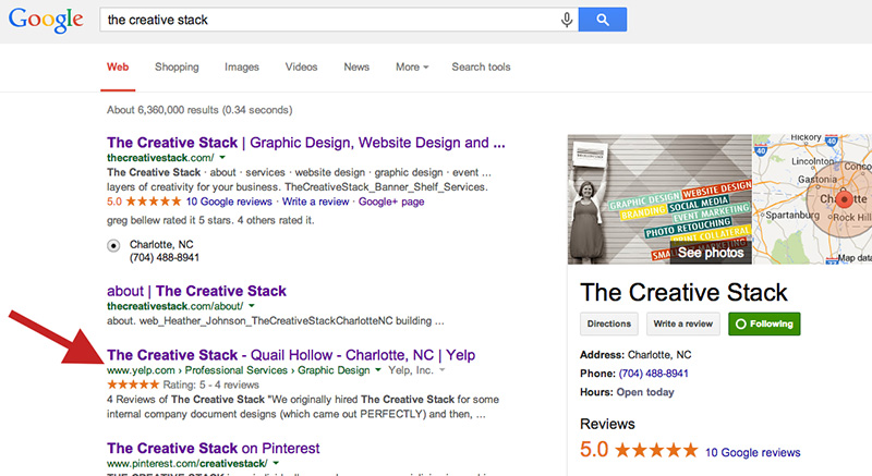 The Creative Stack Google Search