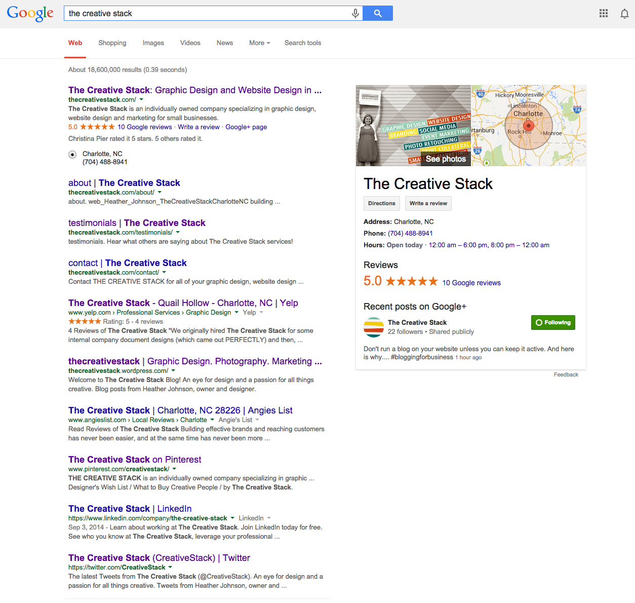 The Creative Stack Google Page One 9_14